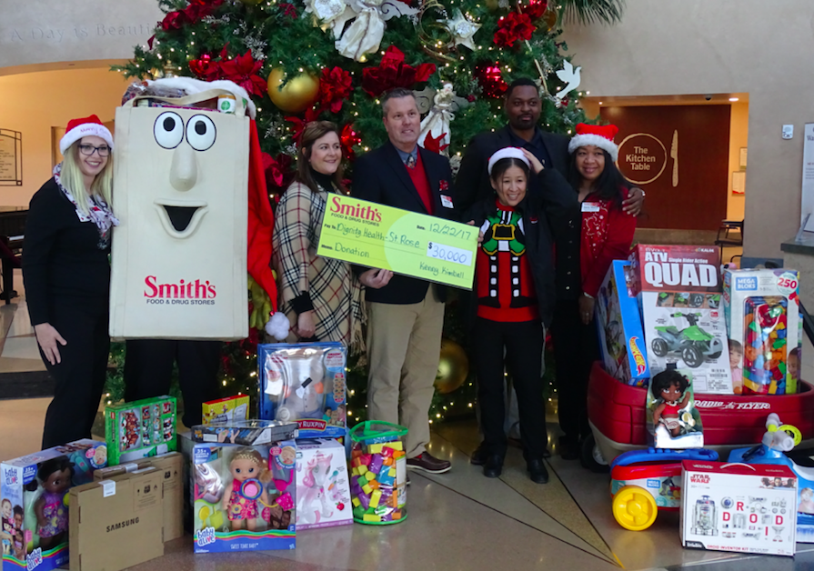 Smith's to Bring Holiday Cheer to Dignity Health-St. Rose Dominican's Pediatric Unit with a $30,000 Donation & Holiday Gift Giveaway