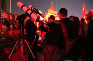 Stars and Stardust: Sidewalk Astronomy in the Boneyard