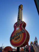 Hard Rock Cafe Guitar Sign to be Illuminated for the First Time in the Neon Museum Boneyard
