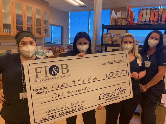 Frey Insurance & Benefits Donated Funds to Cure 4 The Kids Foundation