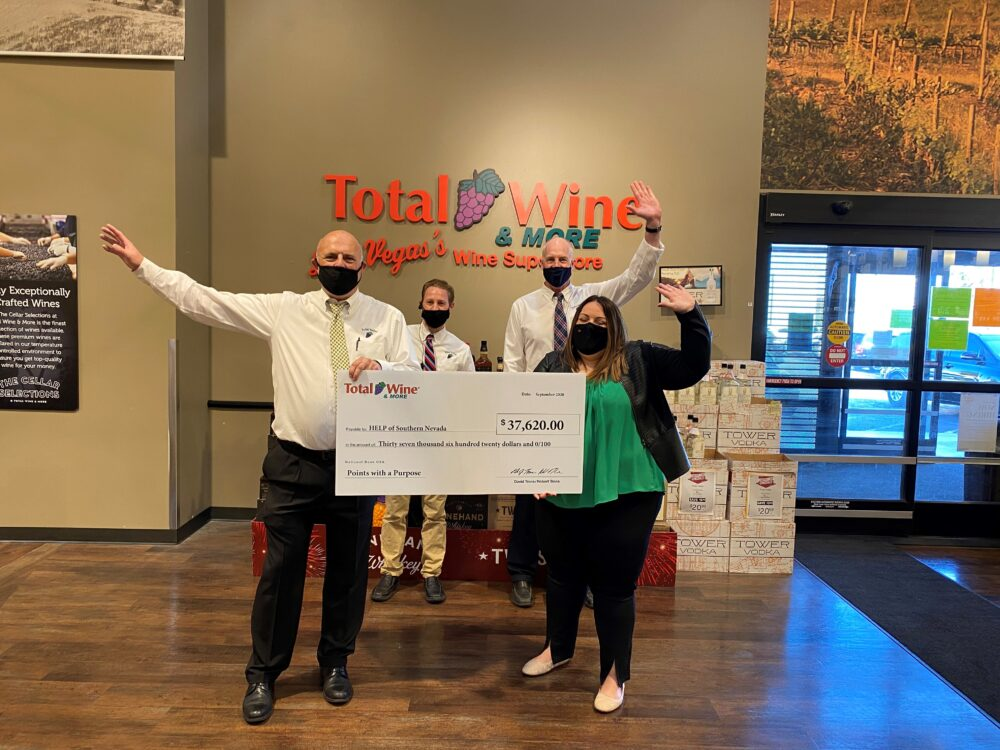 HELP of Southern Nevada Receives $37k Donation from Total Wine & More