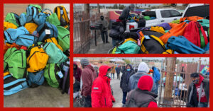 HomeAid Distributes Hundreds of Backpacks With Essential Items to Homeless Community