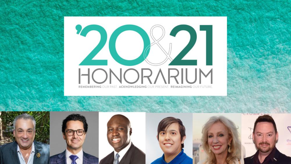 The Center Announces '20 & 21 Honorarium Event October 1, 2021