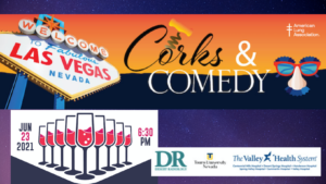 """The American Lung Association in Nevada presents """"Corks and Comedy"""" on June 23, 2021"""
